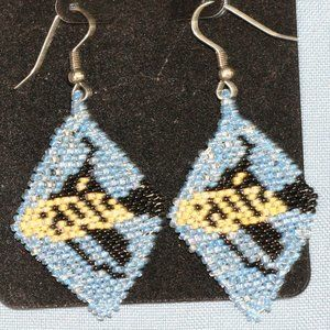 Fish Beaded Earrings